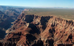 Grand Canyon, vue de Rym du sud Photographie stock libre de droits