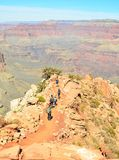 Grand Canyon -wandeling Stock Foto