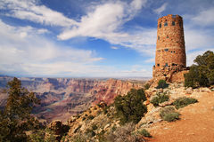 Grand Canyon Watchtower Stock Photos