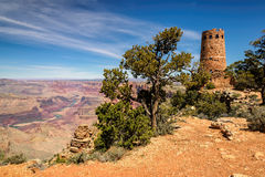 Grand Canyon Watchtower At The Desert View Overlook Stock Photography