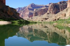 Grand Canyon water reflection Royalty Free Stock Photography