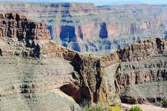 Grand Canyon West. Famous Eagle Point. Beautiful nature background. royalty free stock photography