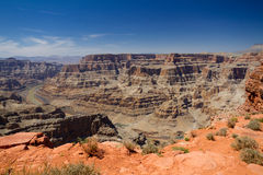 Grand Canyon West Rim with Blue Skies Stock Photo