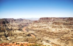 Grand Canyon -Westkante - Eagle Point, sonniger Tag - Arizona, AZ Stockbilder