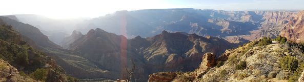 Grand Canyon wide view. Wide panoramic general view of terrain in the Grand Canyon located in Arizona (USA Stock Photos
