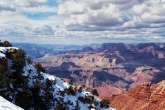 Grand Canyon in winter Royalty Free Stock Photos