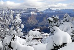 Grand Canyon in Winter 2 Royalty Free Stock Images