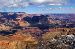 Grand Canyon in winter Stock Images