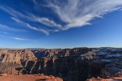 Grand Canyon winter. As sun rises on the grand canyon, the snow begins to melt Stock Image