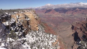 Grand Canyon Winter Landscape Pan stock video footage