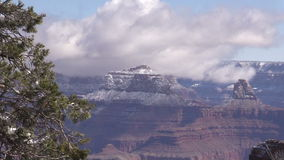 Grand Canyon Winter Landscape Zoom Out stock footage