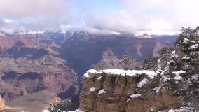 Grand Canyon Winter Landscape Zoom In stock video