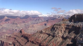 Grand Canyon Winter Landscape Zoom In stock footage