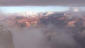 Grand Canyon Winter Pan stock video