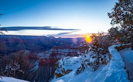 Grand Canyon Winter Panorama royalty free stock images