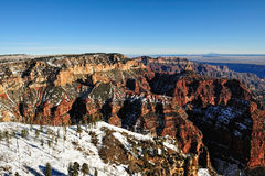 Grand Canyon winter scene Stock Photography