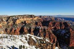 Grand Canyon winter scene Stock Photography