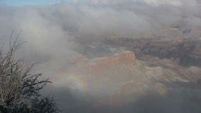 Grand Canyon Winter Scene stock video