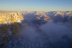Grand Canyon Winter Scenic Stock Photography