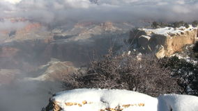 Grand Canyon Winter Scenic stock video