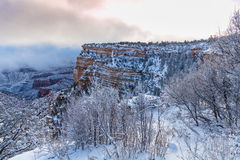 Grand Canyon Winter Scenic Royalty Free Stock Photo