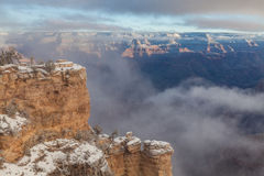 Grand Canyon Winter Scenic Stock Images