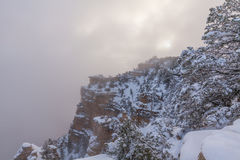 Grand Canyon Winter Scenic Landscape Royalty Free Stock Images