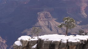 Grand Canyon Winter Scenic Landscape stock footage