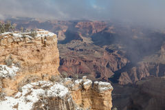 Grand Canyon in Winter Scenic Royalty Free Stock Photography