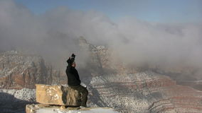 Grand Canyon Winter Scenic Landscape stock video footage