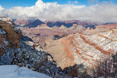 Grand Canyon Winter Scenic Stock Image