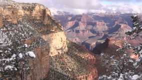 Grand Canyon Winter Scenic Zoom In stock footage