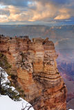 Grand Canyon in winter with snow Stock Image