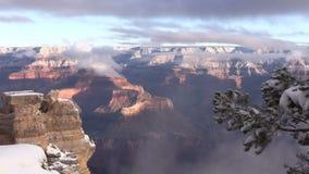 Grand Canyon Winter stock video
