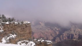 Grand Canyon in Winter stock video footage