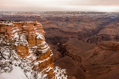 Grand Canyon  in winter with snow Royalty Free Stock Images