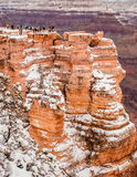 Grand Canyon  in winter with snow Royalty Free Stock Photos