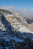 Grand Canyon Winter Snow Royalty Free Stock Images