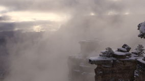 Grand Canyon Winter Snow Storm stock footage