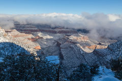 Grand Canyon Winter Royalty Free Stock Photos