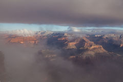 Grand Canyon Winter Storm Royalty Free Stock Photos