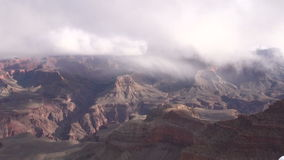 Grand Canyon Winter Storm stock video footage