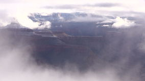 Grand Canyon Winter Storm stock footage