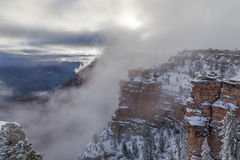 Grand Canyon Winter Sunrise Scenic Stock Images