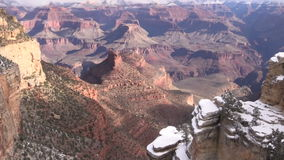 Grand Canyon Winter Zoom In stock video