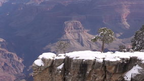 Grand Canyon Winter Zoom In stock footage