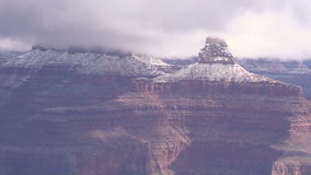Grand Canyon Winter Zoom In stock video footage