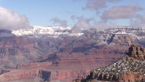 Grand Canyon in Winter Zoom In stock footage