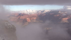 Grand Canyon Wintery Storm stock footage