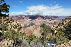 Grand Canyon Yavapai Point. Grand Canyon National Park in Arizona, United States. Yavapai Point overlook stock photo